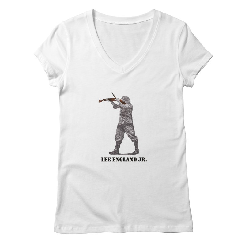 Music is my weapon Women's Regular V-Neck by leeenglandjr's Artist Shop