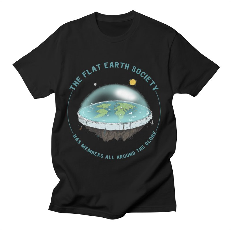 The Flat Earth Society has members all around the globe Men's T-Shirt by leegrace.com