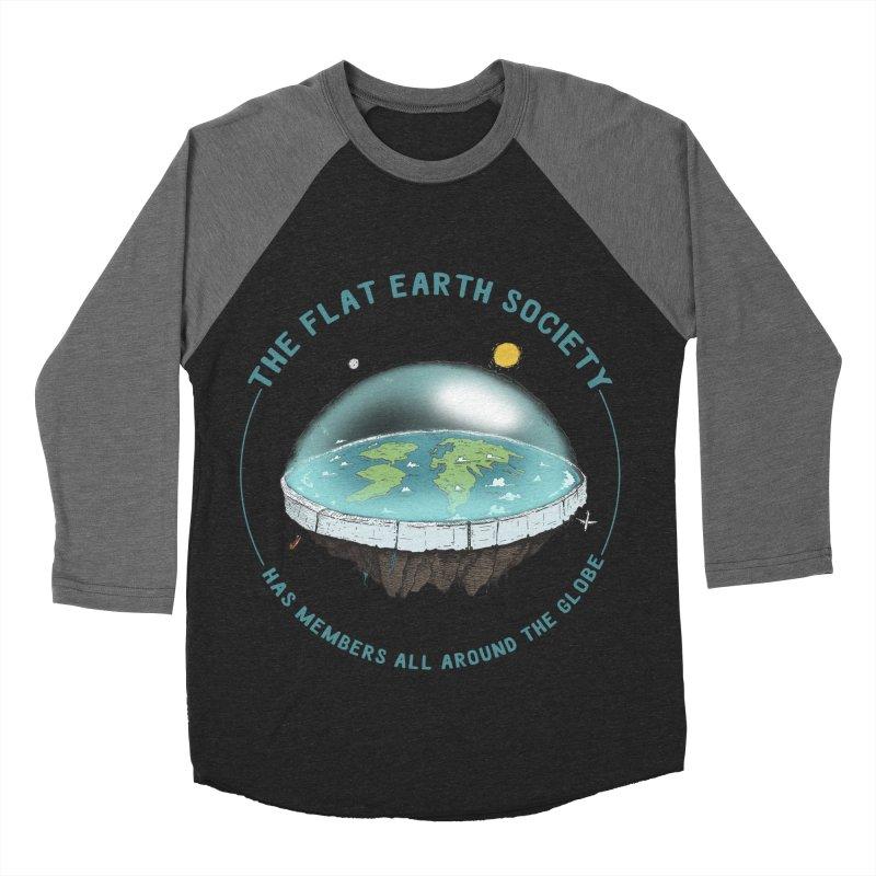 The Flat Earth Society has members all around the globe Women's Baseball Triblend Longsleeve T-Shirt by leegrace.com