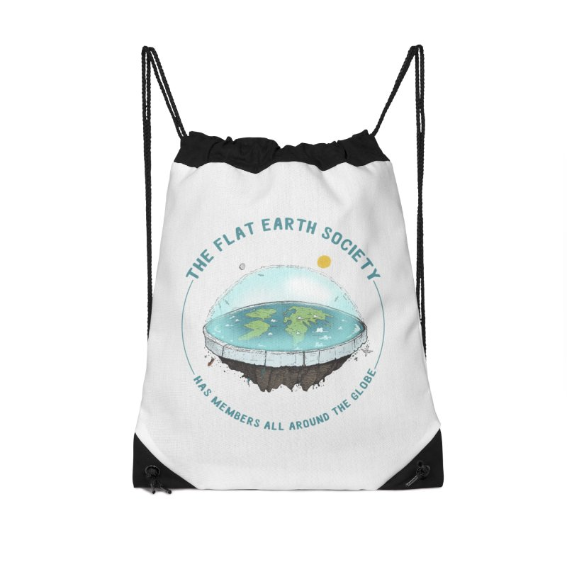 The Flat Earth Society has members all around the globe Accessories Drawstring Bag Bag by leegrace.com