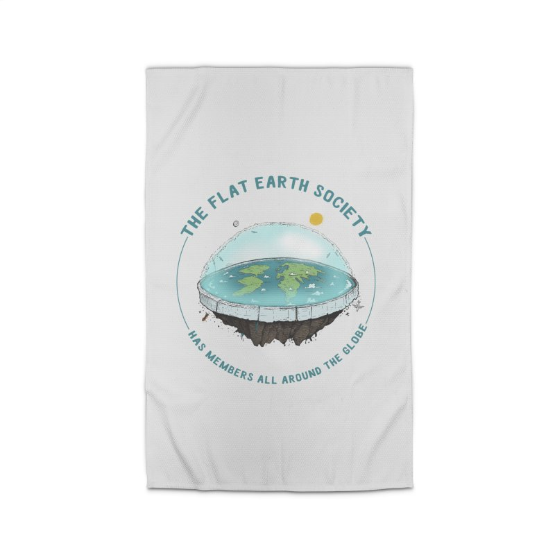 The Flat Earth Society has members all around the globe Home Rug by leegrace.com