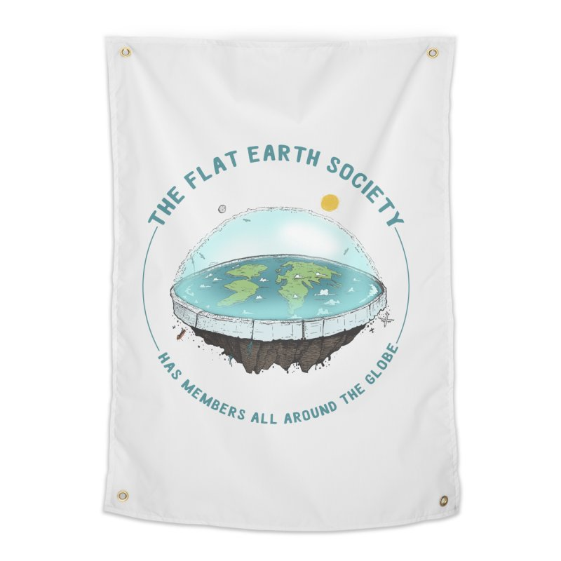 The Flat Earth Society has members all around the globe Home Tapestry by leegrace.com