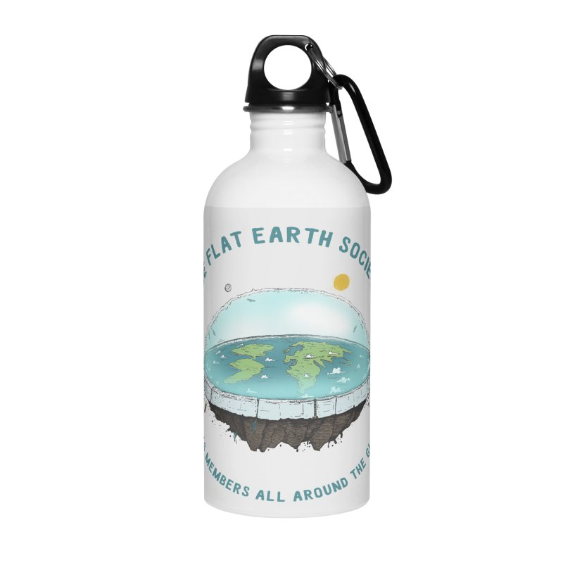 The Flat Earth Society has members all around the globe Accessories Water Bottle by leegrace.com