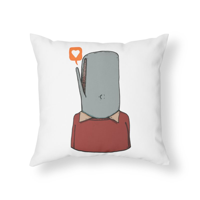 The Love Whale Home Throw Pillow by leegrace.com