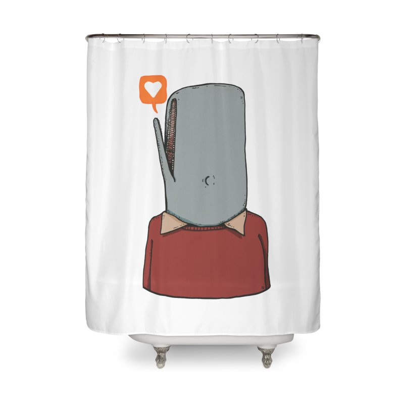 The Love Whale Home Shower Curtain by leegrace.com