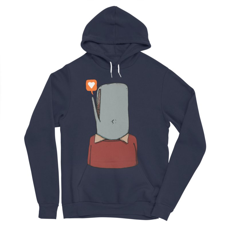 The Love Whale Men's Sponge Fleece Pullover Hoody by leegrace.com