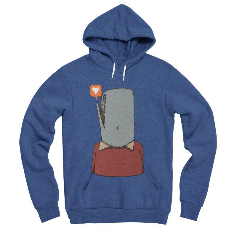 The Love Whale Men's Sponge Fleece Pullover Hoody by leegrace.com