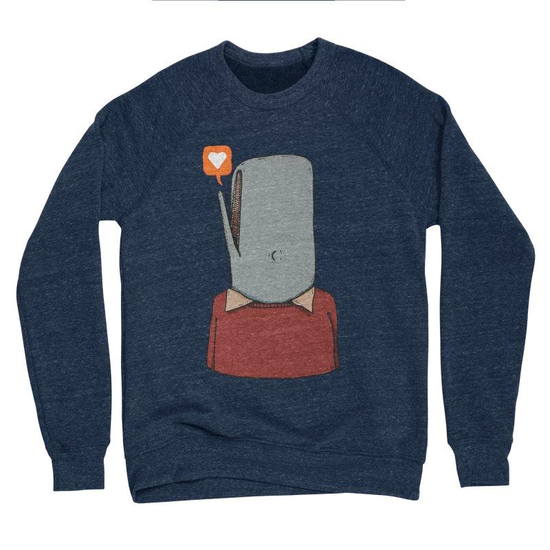 The Love Whale Men's Sponge Fleece Sweatshirt by leegrace.com