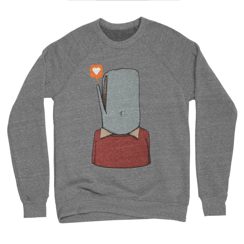 The Love Whale Women's Sponge Fleece Sweatshirt by leegrace.com