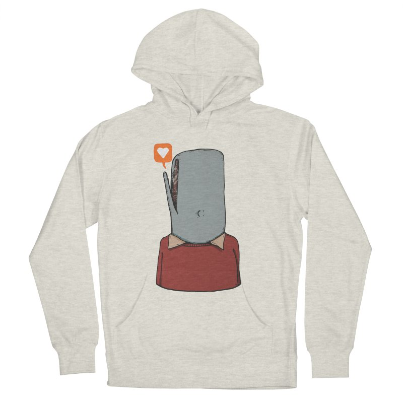 The Love Whale Men's French Terry Pullover Hoody by leegrace.com