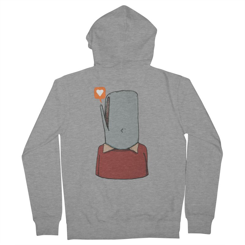 The Love Whale Men's French Terry Zip-Up Hoody by leegrace.com