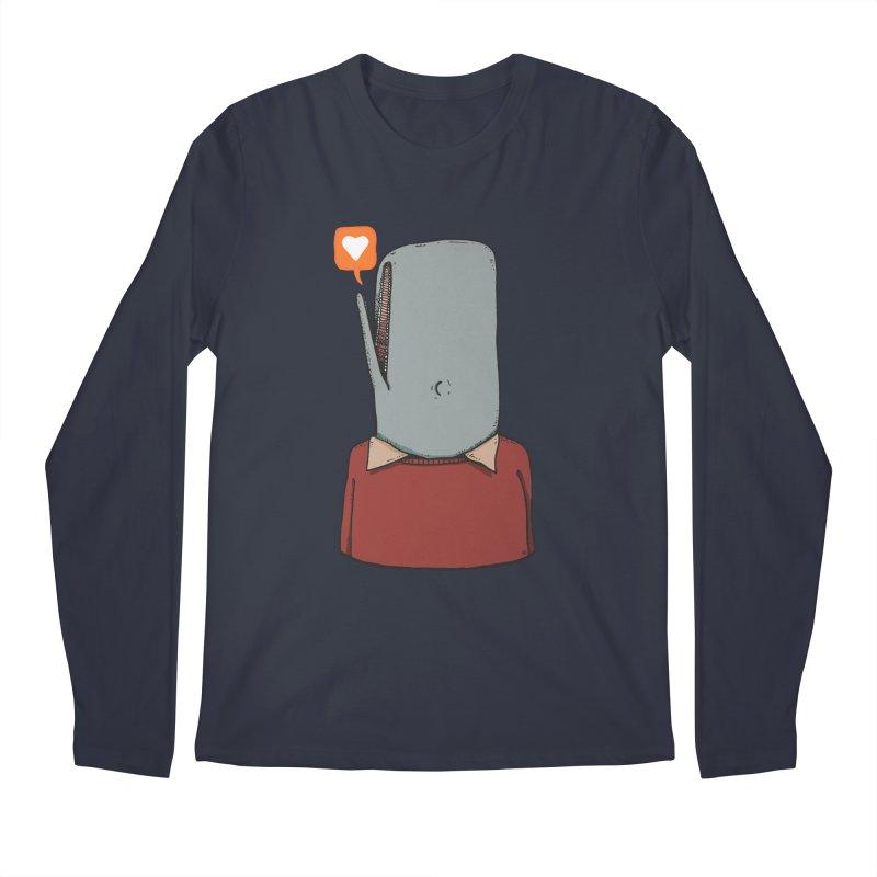 The Love Whale Men's Regular Longsleeve T-Shirt by leegrace.com