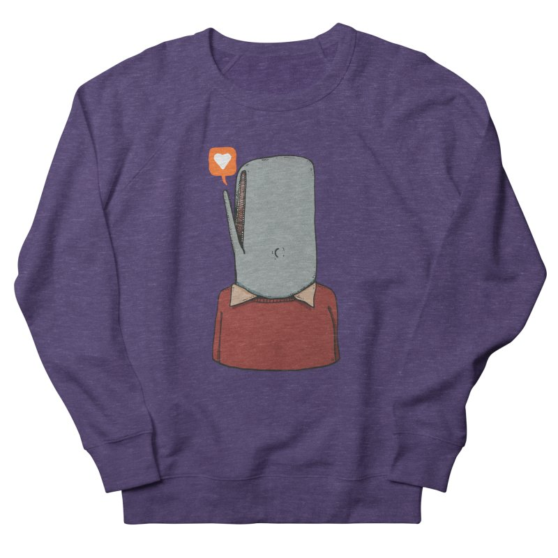 The Love Whale Men's French Terry Sweatshirt by leegrace.com