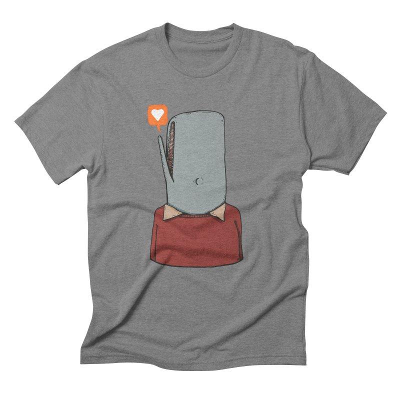 The Love Whale Men's Triblend T-Shirt by leegrace.com