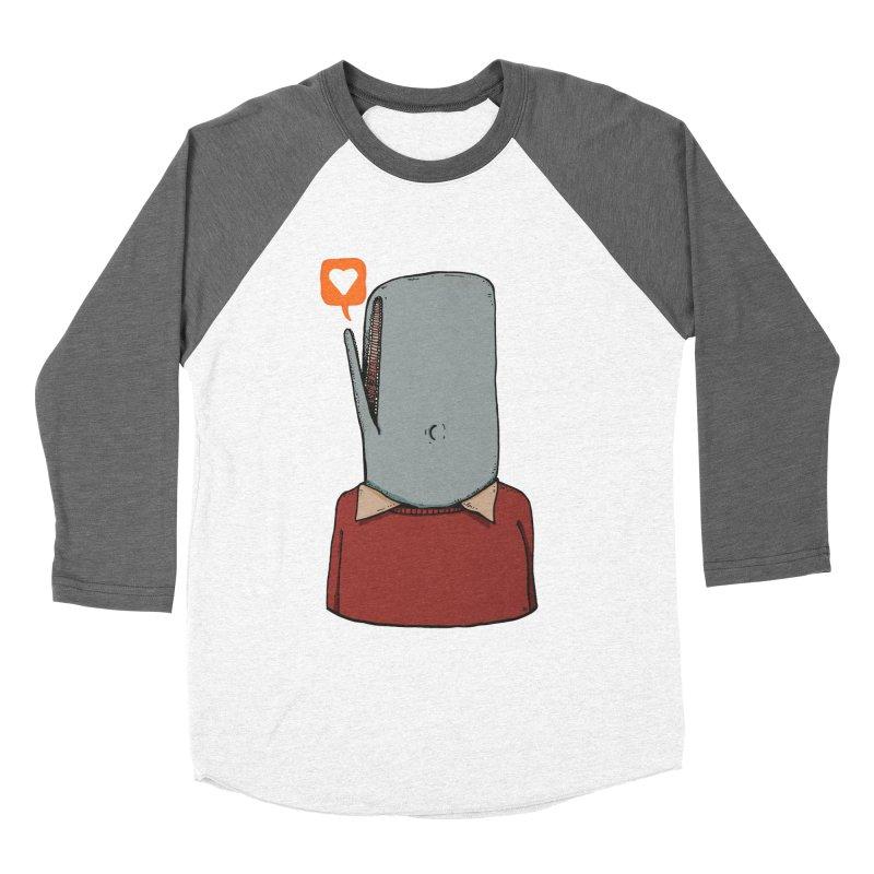 The Love Whale Women's Baseball Triblend Longsleeve T-Shirt by leegrace.com