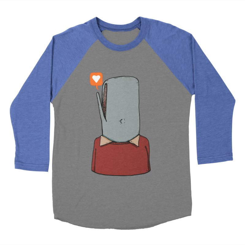 The Love Whale Men's Baseball Triblend Longsleeve T-Shirt by leegrace.com