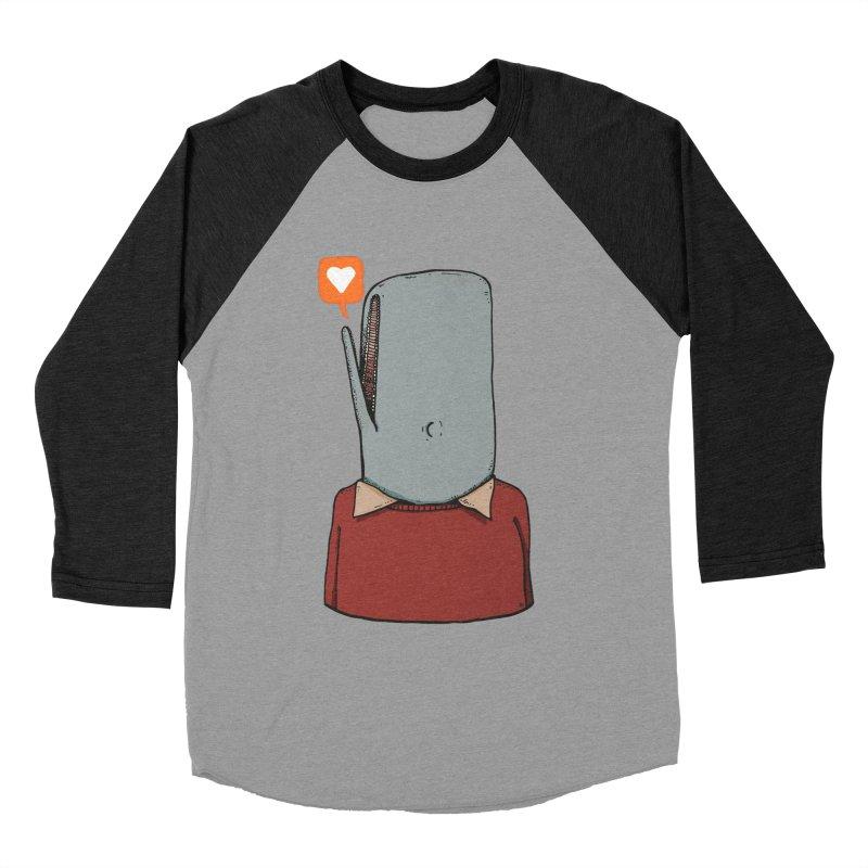 The Love Whale Men's Baseball Triblend Longsleeve T-Shirt by leegrace.com