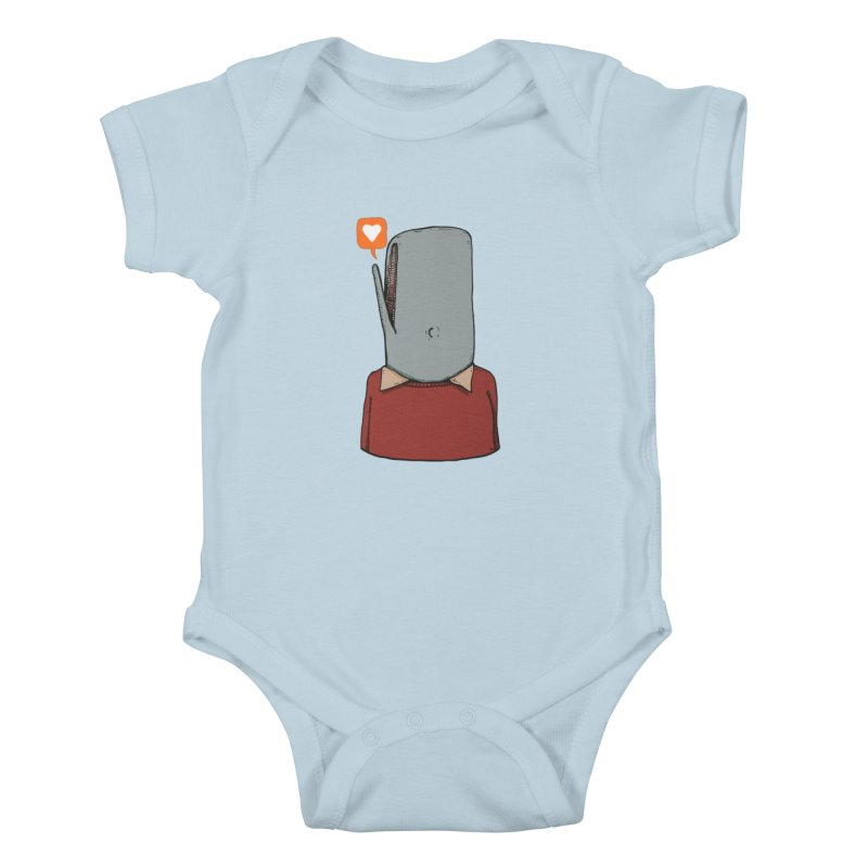 The Love Whale Kids Baby Bodysuit by leegrace.com