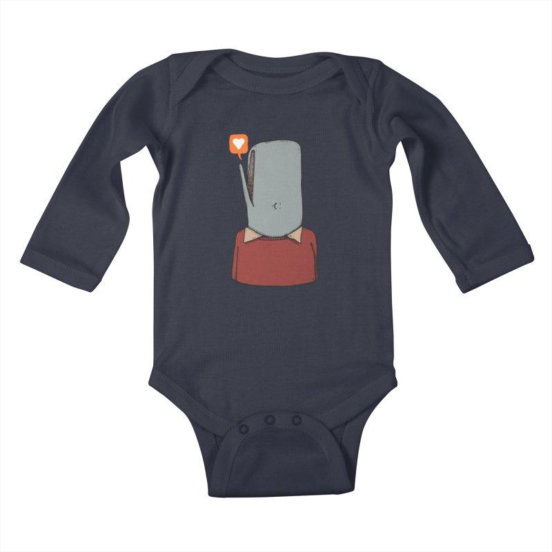 The Love Whale Kids Baby Longsleeve Bodysuit by leegrace.com
