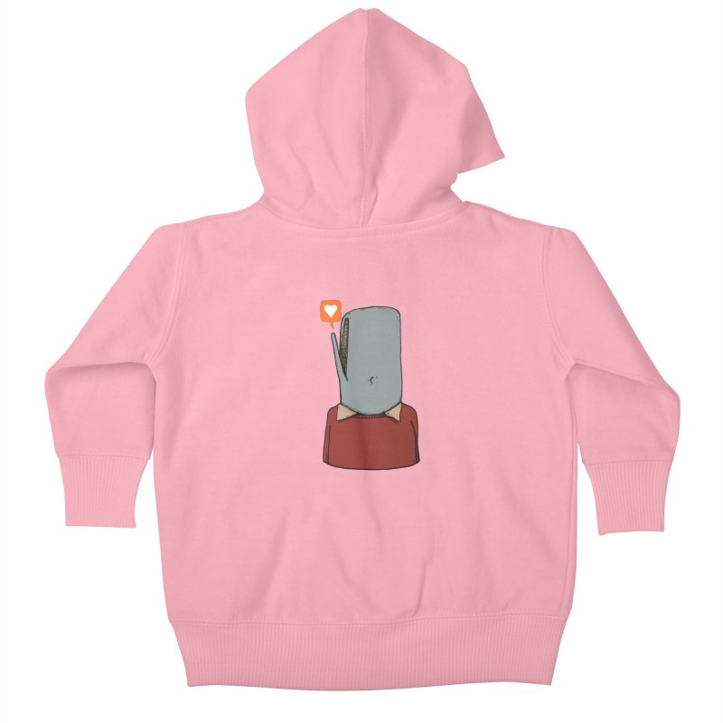 The Love Whale Kids Baby Zip-Up Hoody by leegrace.com