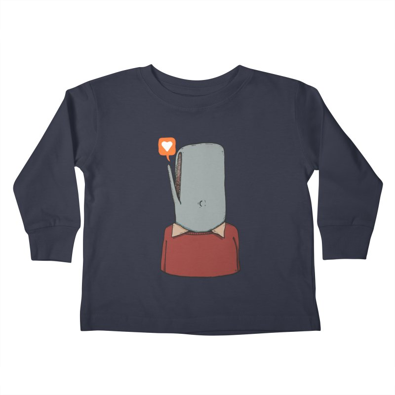 The Love Whale Kids Toddler Longsleeve T-Shirt by leegrace.com