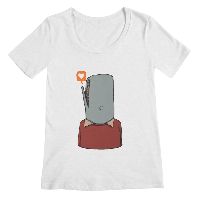 The Love Whale Women's Regular Scoop Neck by leegrace.com