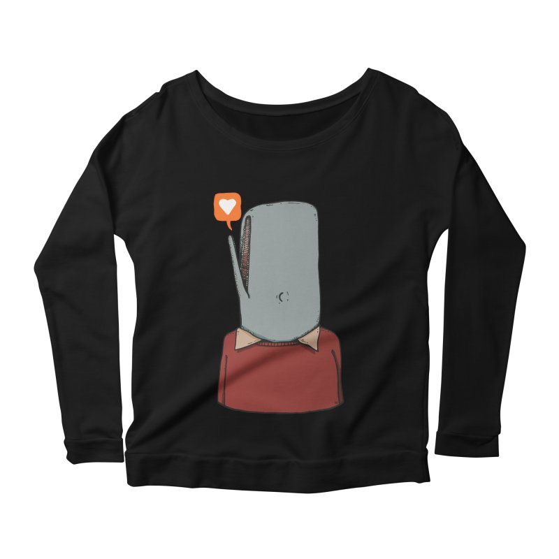 The Love Whale Women's Scoop Neck Longsleeve T-Shirt by leegrace.com