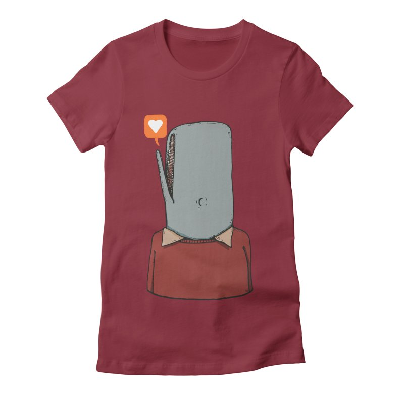 The Love Whale Women's Fitted T-Shirt by leegrace.com