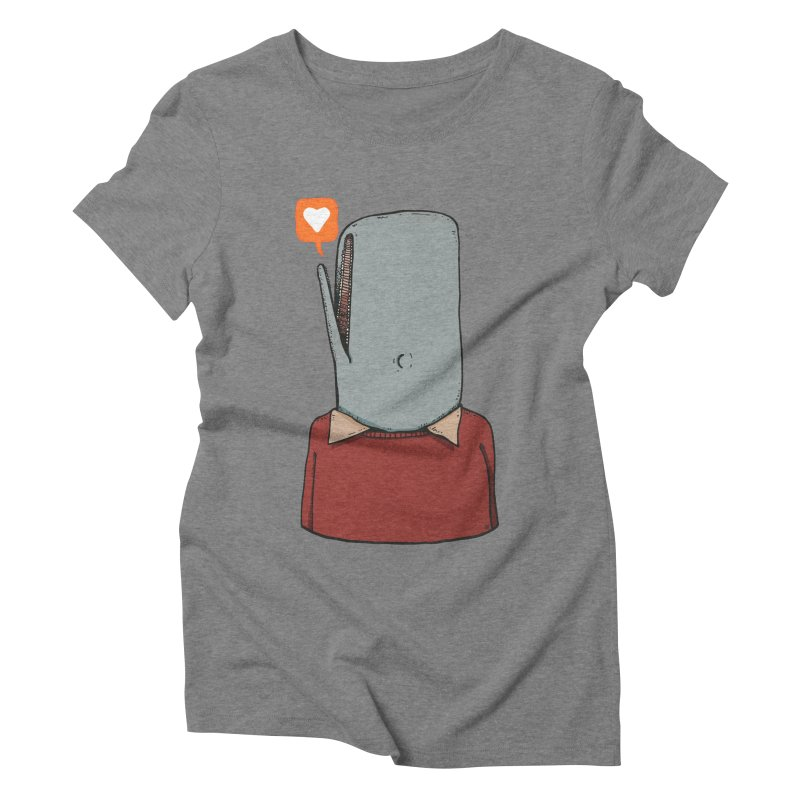 The Love Whale Women's Triblend T-Shirt by leegrace.com