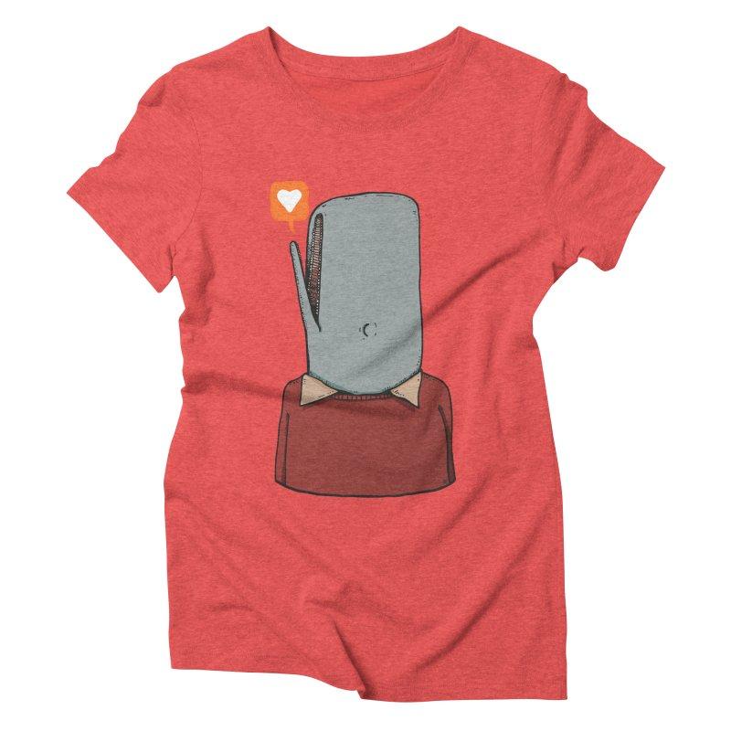 The Love Whale Women's Triblend T-Shirt by leegrace.com