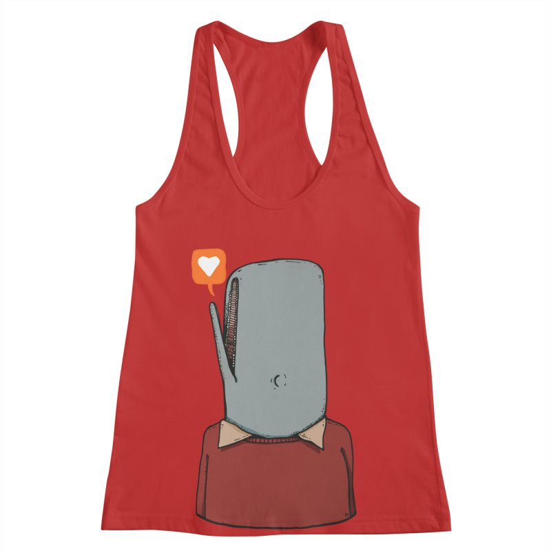 The Love Whale Women's Racerback Tank by leegrace.com