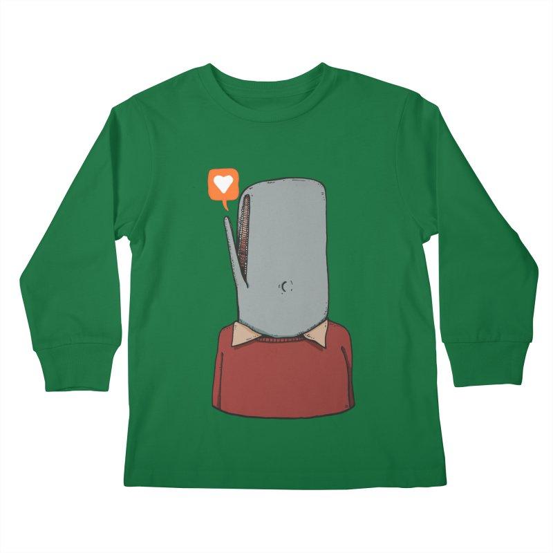 The Love Whale Kids Longsleeve T-Shirt by leegrace.com
