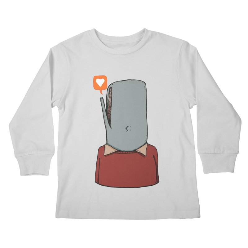 The Love Whale Kids Longsleeve T-Shirt by leegrace.com