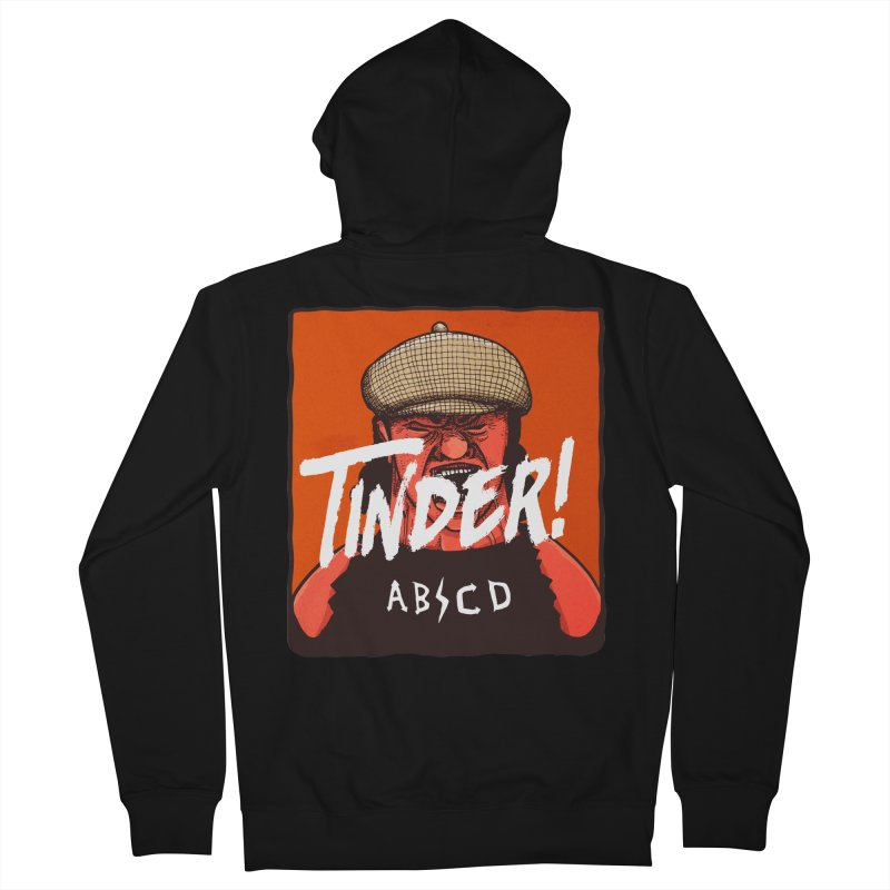 Tinder by ABCD! Men's French Terry Zip-Up Hoody by leegrace.com