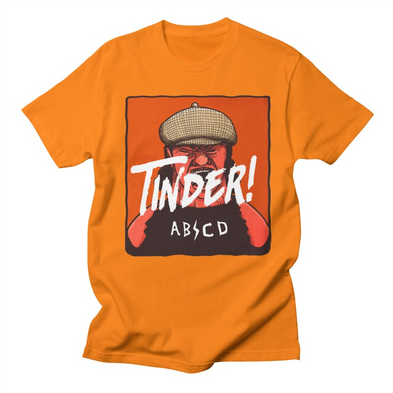 Tinder by ABCD! Men's Regular T-Shirt by leegrace.com