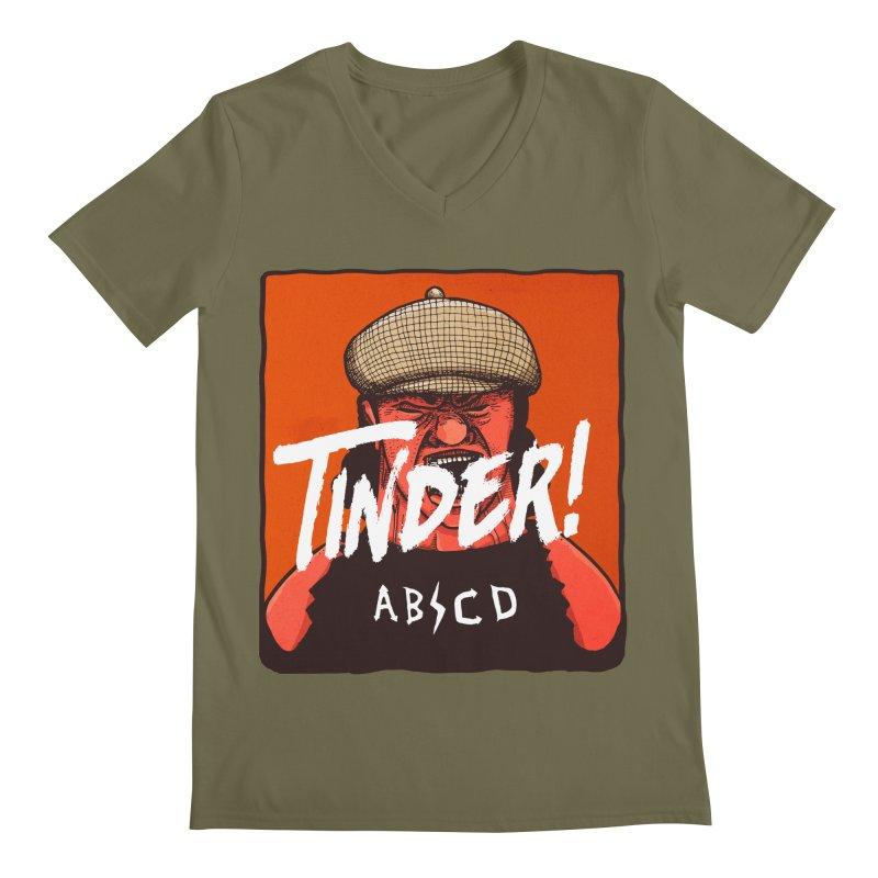 Tinder by ABCD! Men's Regular V-Neck by leegrace.com