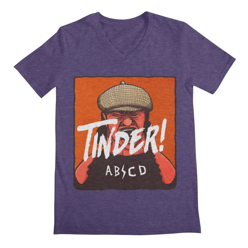 Tinder by ABCD! Men's Regular V-Neck by leegrace.com