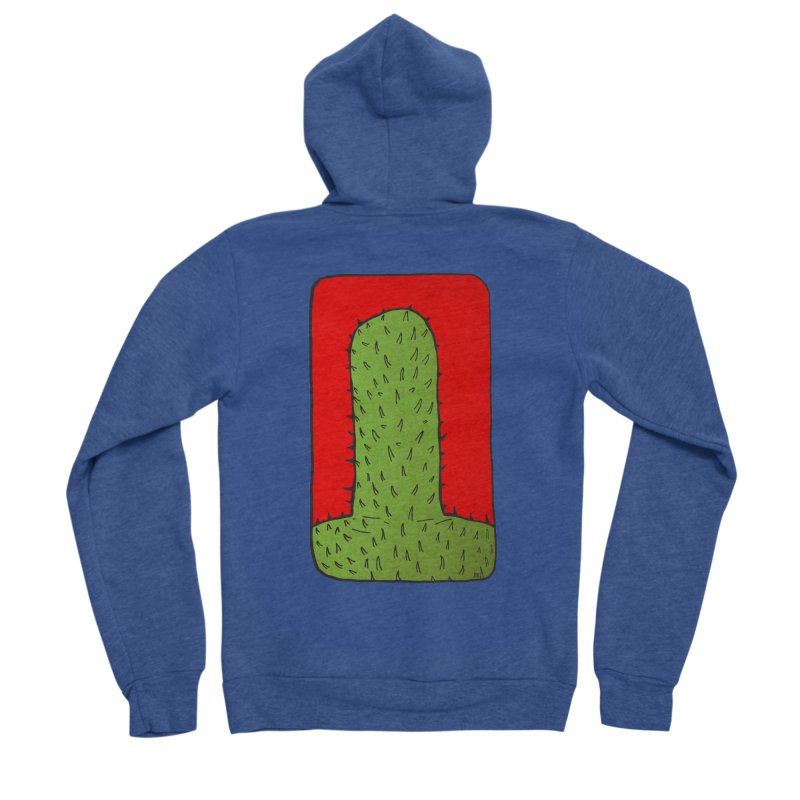 Prickly Men's Sponge Fleece Zip-Up Hoody by leegrace.com