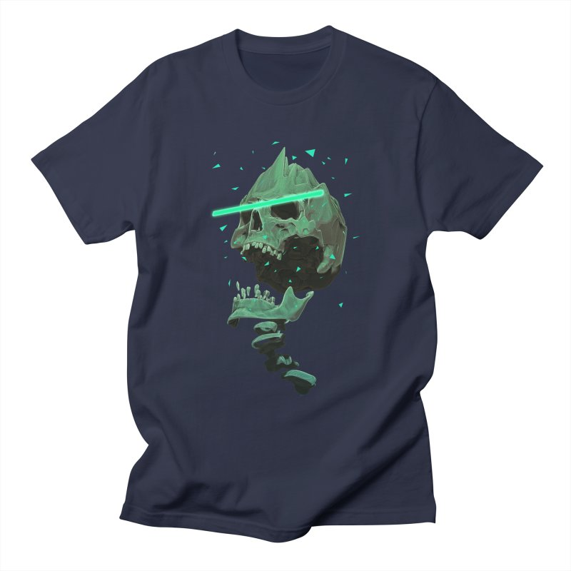 Green Nuclear 80's Skull Men's T-Shirt by Lee Petty Art Stuff!