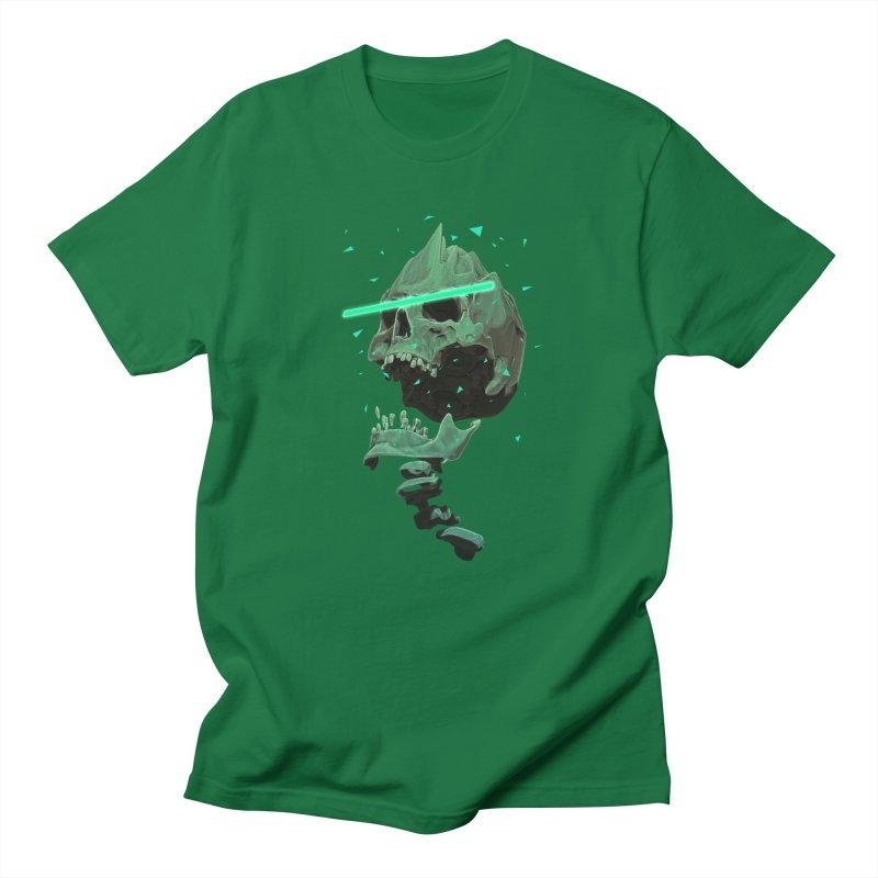 Green Nuclear 80's Skull Men's Baseball Triblend Longsleeve T-Shirt by Lee Petty Art Stuff!