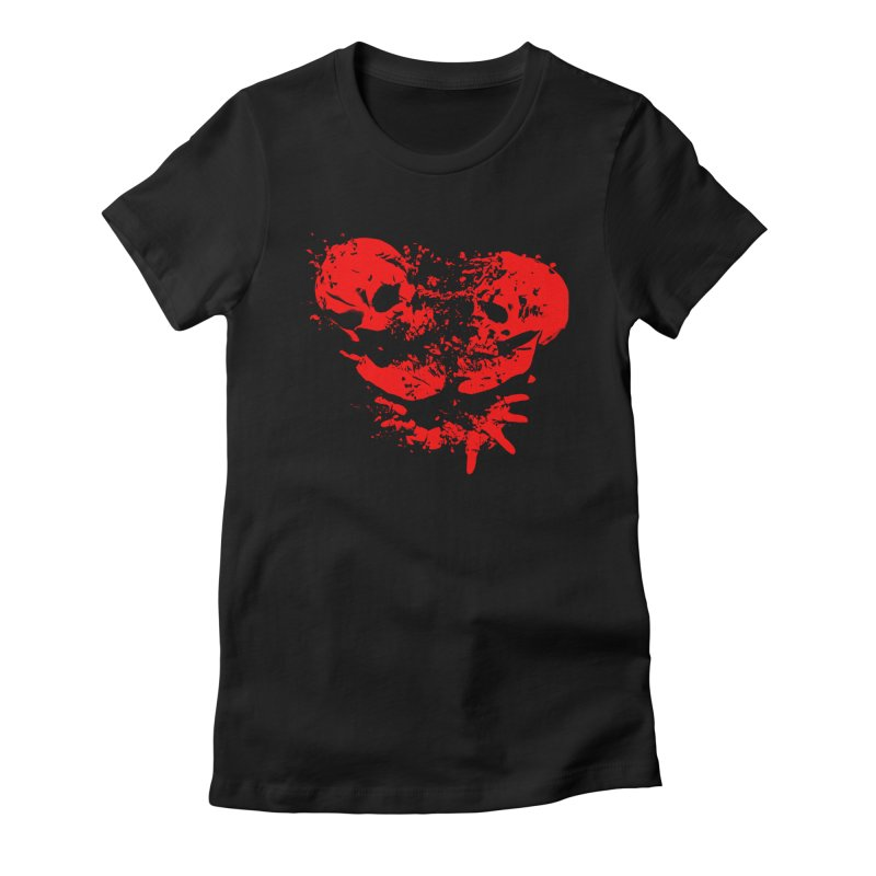 Binary Star - Red Ink Women's Fitted T-Shirt by Lee Petty Art Stuff!