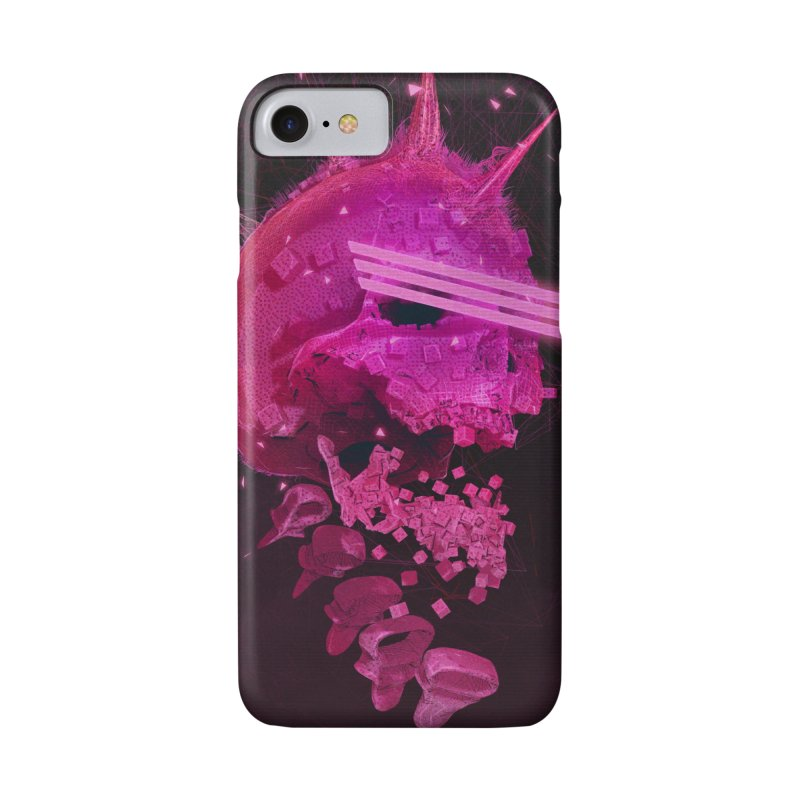 Pink Skull Phone Case in iPhone 7 Phone Case Slim by Lee Petty Art Stuff!