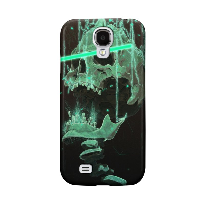 Green Skull Phone Case Accessories Phone Case by Lee Petty Art Stuff!
