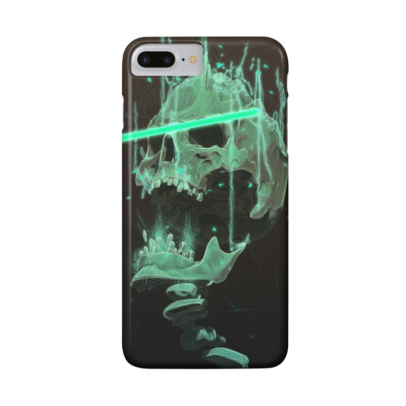 Green Skull Phone Case in iPhone 7 Plus Phone Case Slim by Lee Petty Art Stuff!