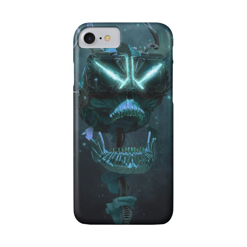 VR Skull in iPhone 7 Phone Case Slim by Lee Petty Art Stuff!