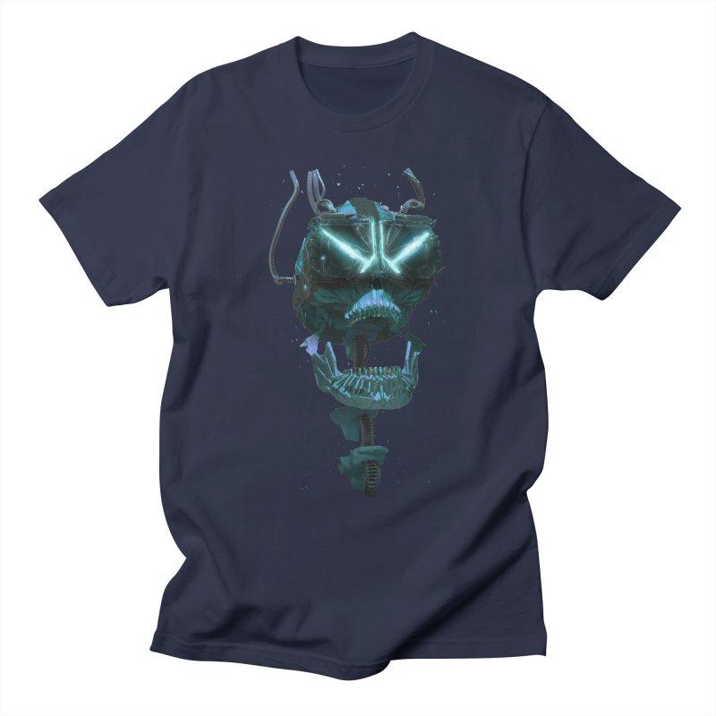 VR Skull Men's T-Shirt by Lee Petty Art Stuff!