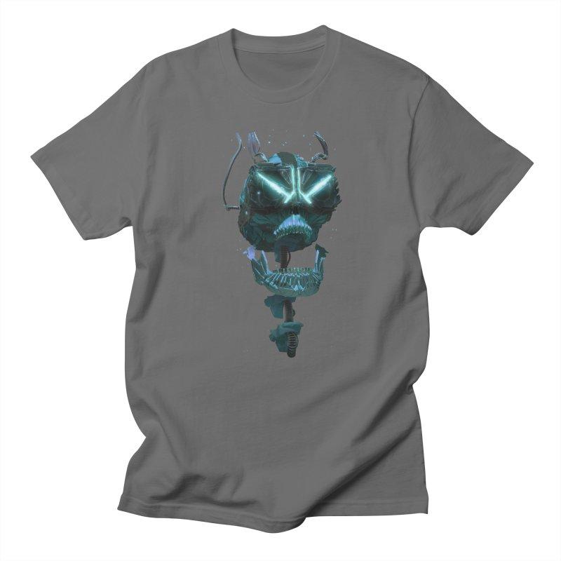 VR Skull Men's Baseball Triblend Longsleeve T-Shirt by Lee Petty Art Stuff!