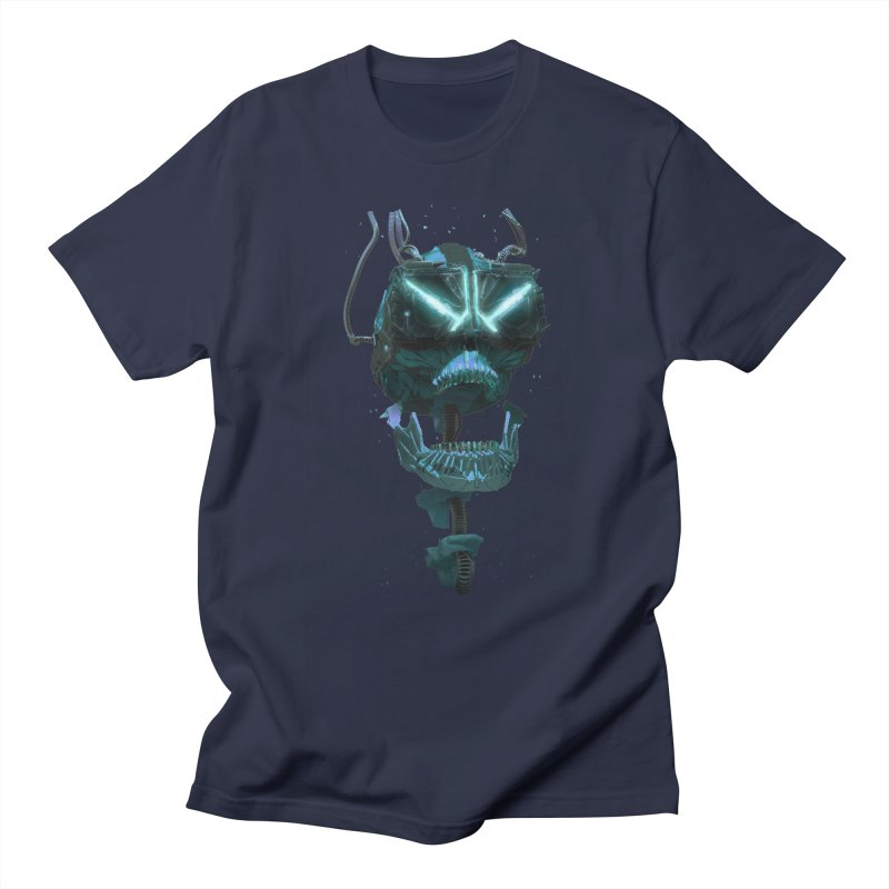 VR Skull in Men's Regular T-Shirt Navy by Lee Petty Art Stuff!