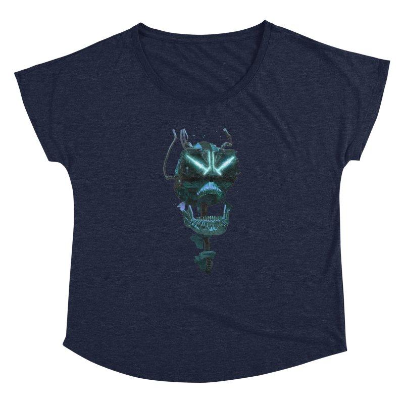 VR Skull Women's Dolman Scoop Neck by Lee Petty Art Stuff!