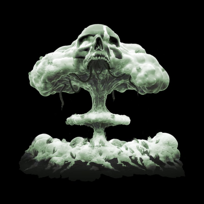 Nuclear Skull Cloud by Lee Petty Art Stuff!